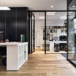 Architecture - Lille - Maison - Salon - Appartement - Bureau - Minimaliste - Design - Paroi Vitré - Volume - Lumière - Photo - cosy - Espace - Plan - Architecture d'intérieur - Matière - Bois - Ouverture - Végétation - Rangement